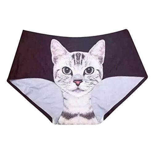 Sexy Katze Unterwäsche Slip Damen Hipster Panties 3D Tier Katze Gedruckt G-String Höschen Briefs...
