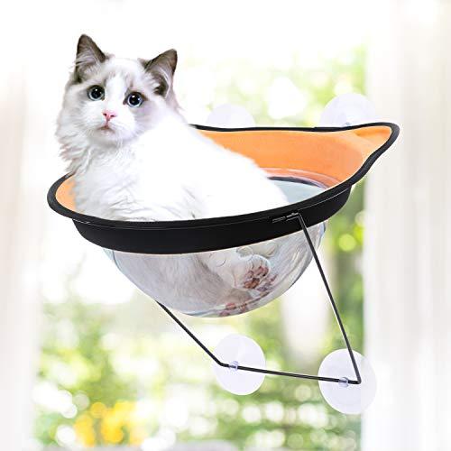 Ovida Katzenhängematte für Fenster, Sitzstangen für Katzen, Fenster, Kapsel, Bett, platzsparend, mit...