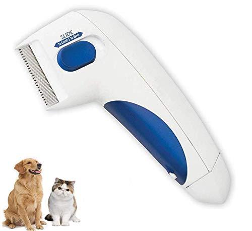 GAMRY Flohkamm für Haustiere - Kopfläuseentfernung Haustierreinigung wie im TV gesehen, elektronischer...