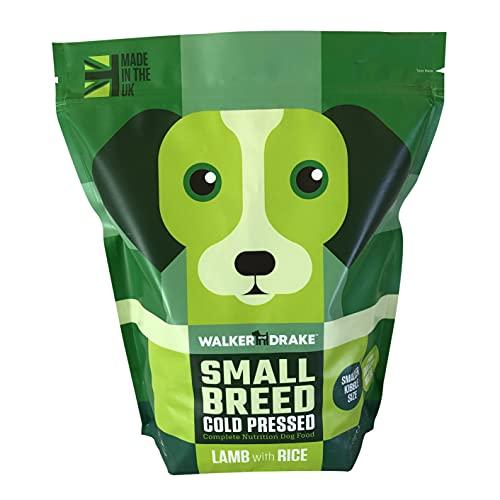 Walker & Drake Kleine Rassen Hundefutter – kaltgepresstes Lamm mit Reis – 1,5 kg Beutel – die...