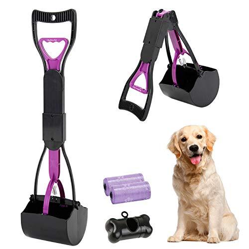 HyAdierTech Tragbare Hundekotgreifer, Kotgreifer Hunde, Yard Hund Pooper Scooper mit Abfallbeutel...