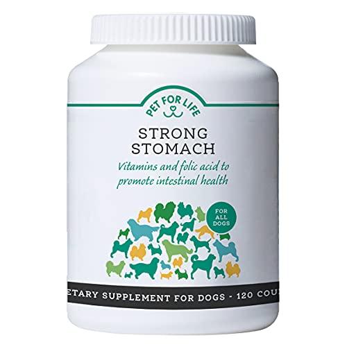 PET FOR LIFE Magen-Darm Kapseln für Hunde - Strong Stomach I 120 Stück I Mit wertvollen Vitaminen und...