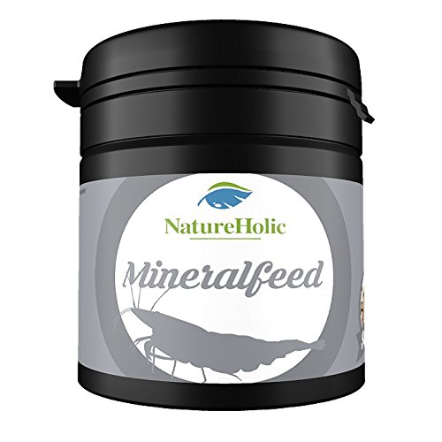 NatureHolic - Mineralfeed Garnelenfutter - Mineralhaltiges Futter für Ihre Garnelen im Aquarium - gegen...