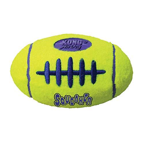 KONG – AirDog Football – Quietschendes, Federndes Apportierspielzeug aus Tennisballmaterial – Für...