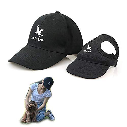 2er Set - 1x Hund Kappe Baseballmütze für Hunde Hut Mütze Hundehut Sonnenhut mit Ohrlöcher + 1x...