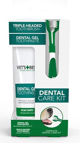 Vet's Best Dog Zahnpasta, Zahnreinigung und frische Atmung Zahnpflege Gel Kit
