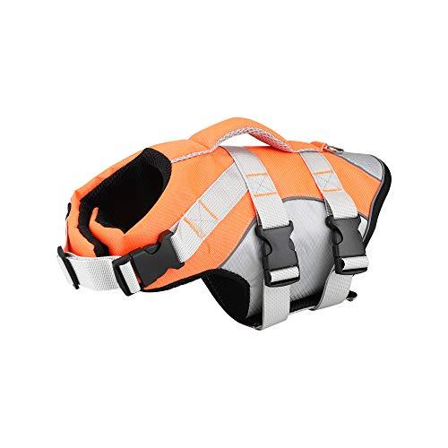 Dog Life Jacket - Tragbare Schwimmweste für Hunde, Verstellbare Rettungsweste für Rettungsschwimmer...