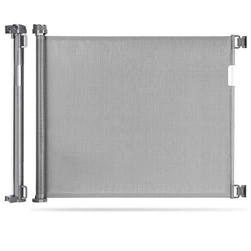 Einziehbares Babygitter, extra breites Türschutzgitter Roll 0-180cm, Einhandbedienung, Absperrgitter...