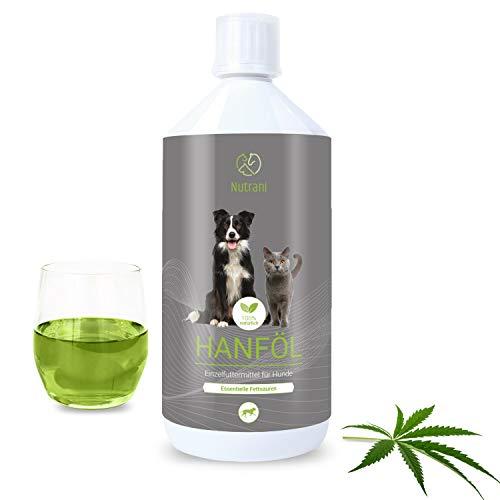 Nutrani Hanföl für Hunde | 1 Liter kaltgepresst – Natürliches Futteröl mit essentiellen Fettsäuren...