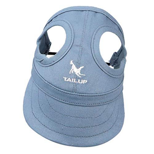 Hundecap Hundehut Baseballmütze Leinwand Baseball Cap Hut Mütze Kappe mit Ohrlöchern für Hunde -...