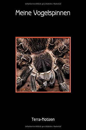 Meine Vogelspinnen Terra-Notizen: Brachypelma Albopilosum, Kraushaarvogelspinne. Format A5, 120 Seiten....