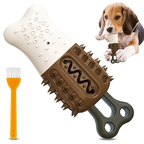UniPlus Hundezahnbürste für Kleine Mittelgroße Hunde, Kann Gefüllt Werden Wasser Sommer Abkühlen...
