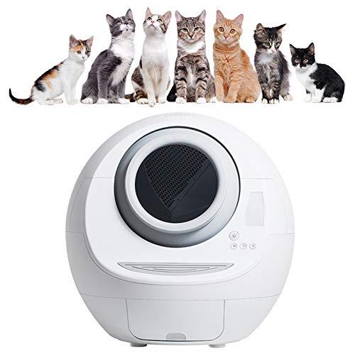 WDSZXH Automatische Selbstreinigende Elektrische Katzentoilette mit Deodorant Vollständig Geschlossener...