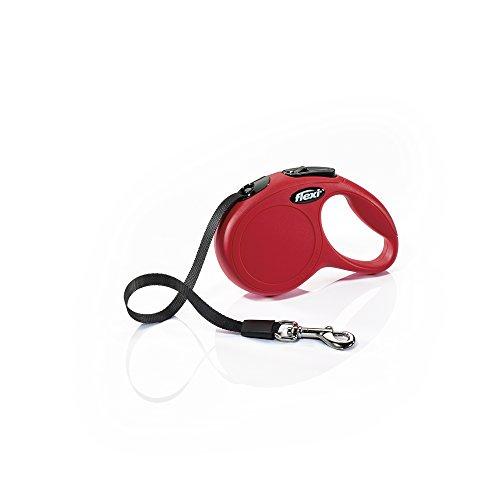 flexi CL00T3.250.R Hundeleine, einziehbar, 3 m, Größe XS, Rot