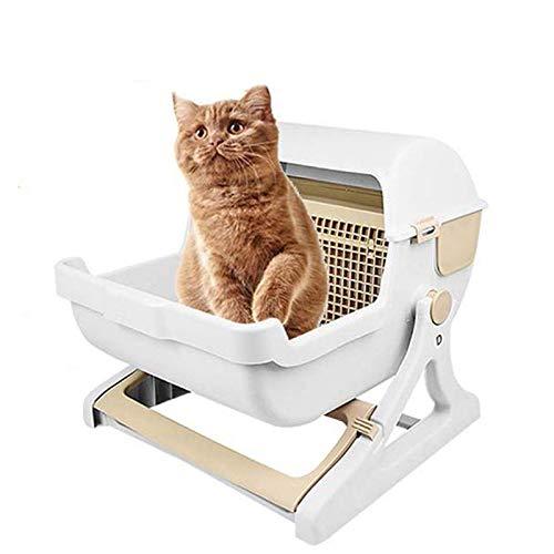 LIANGZHI Katzentoilette Automatische Selbstreinigend Katzentoilette Mit Sieb Groß Katzen Katzenklo 50 *...