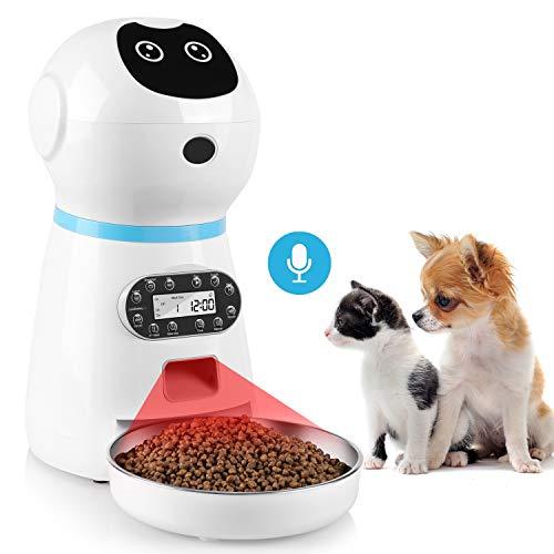 pedy Futterautomat Katze, Automatischer Futterspender Katze mit Programmierbarer Timer, Futterautomat...