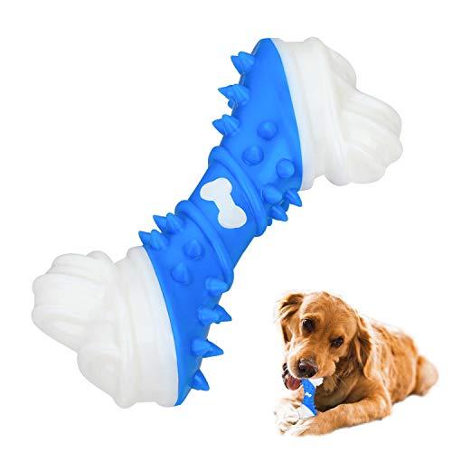 Hunde Kauspielzeug, langlebige Hunde Kauen Knochen Tough dauerhafte Gummi Welpen Kauspielzeug für große...