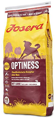 JOSERA Optiness (1 x 15 kg)   Hundefutter mit eiweißreduzierter Rezeptur ohne Mais   Super Premium...