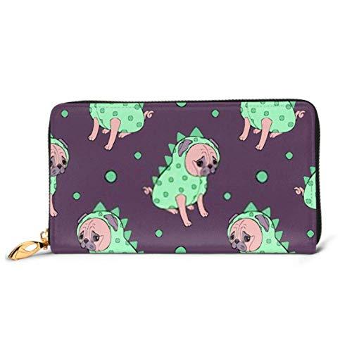 JHGFG Mode Handtasche Reißverschluss Brieftasche Nahtloser Mops Welpe Illustration Kinder Hund Telefon...