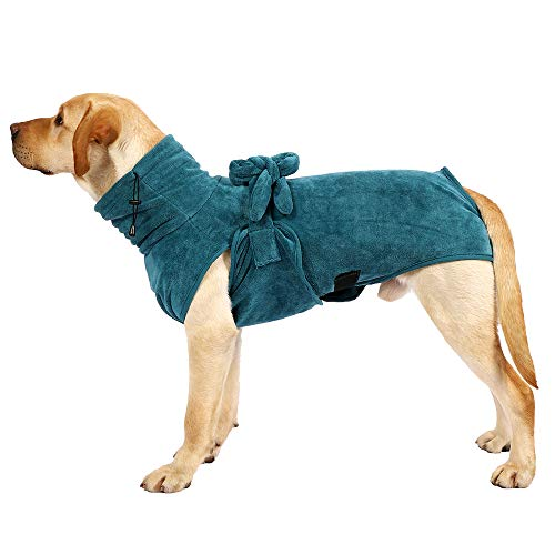 Hunde-Bademantel, sehr weich, bequem, super saugfähig, schnell trocknend, einfach zu tragen, mit...