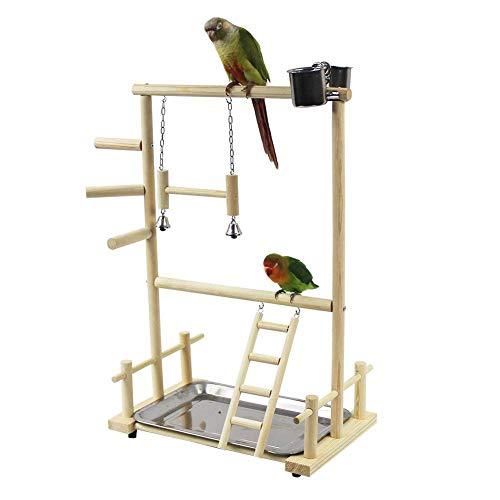 Papagei Spielplatz Vogelspielplatz Nymphensittich Spielplatz Holz Barsch Turnhalle Laufgitter Leiter mit...