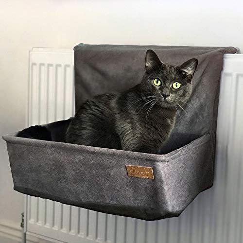 PiuPet® Katzen Heizungsliege - passend für alle gängigen Heizkörper - Katzenhängematte Heizung -...