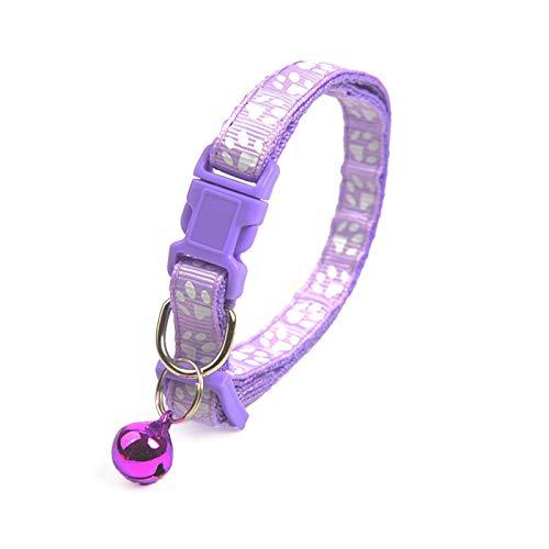 YULINGSTYLE Haustier Halsband Mode niedlichen Glocke Teddy pommerschen Hund Cartoon Fußabdruck...
