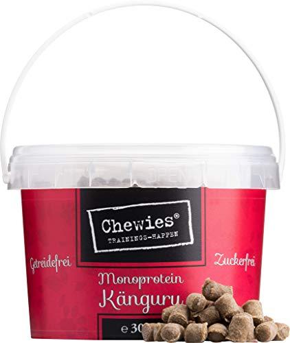 Chewies Trainingshappen Känguru - Monoprotein Snack für Hunde - 300 g - getreidefrei & zuckerfrei -...