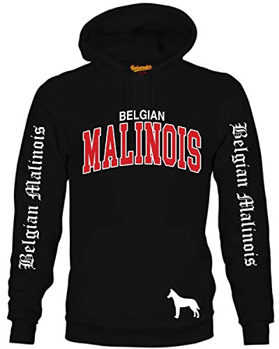 Malinois Belgian Mali Belgischer Schäferhund Hund Hoodie Unisex Sweatshirt Extreme Hundemotiv Größe XL