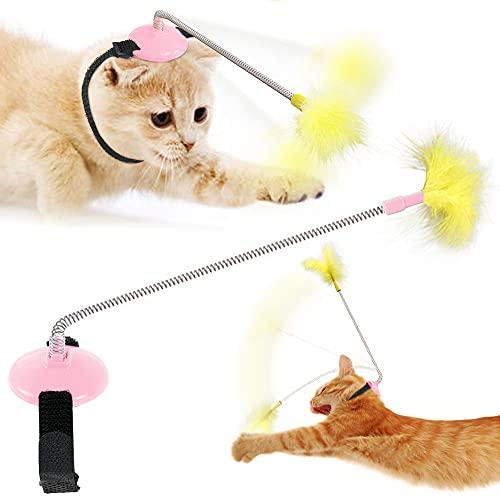 CIVG Katzenspielzeug Elektrischer Interaktives Ball,Automatischer Drehender Katzenball mit USB-Aufladung...