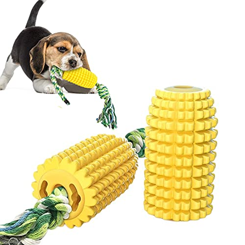 Kauspielzeug für Hunde,Hundespielzeug Haltbares,Maisförmig Hundezahnbürste Hundespielzeug,Haltbares...