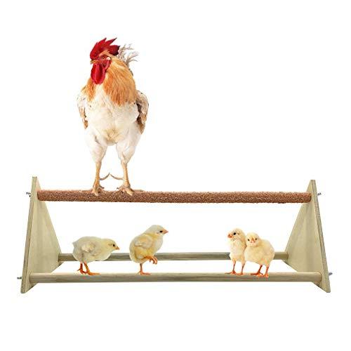 Chenso Papagei Spielzeug, Chicken Barsch Dreieck Frosted Hen Stand Holz Tischplatte Spielspielzeug Für...