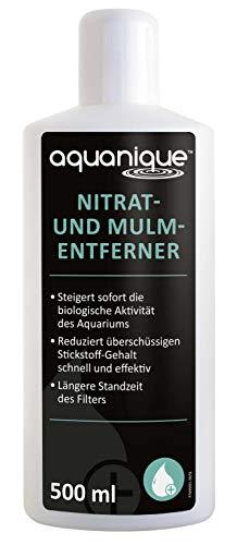 AQUANIQUE Nitrat- und Mulmentferner 500ml, senkt den Nitratgehalt im Aquarium, entfernt Mulm aus...