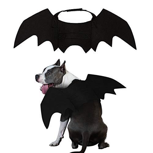 PEDOMUS Hundekostüm Halloween Kostüm Hund Katze Vampir Fledermaus Flügel Kostüme groß