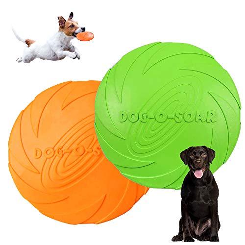 Hunde Frisbees,Hund Scheibe,2 Stück hundespielzeug Frisbee,Gummi Frisbee,für Land und...