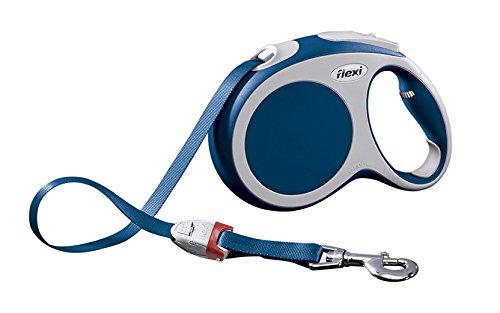 flexi Roll-Leine Vario L Gurt 5 m blau für Hunde bis max. 60 kg