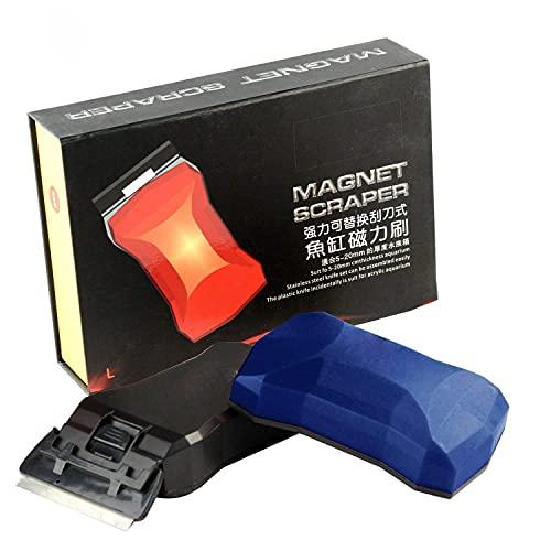 PAKEY Magnetischer Reiniger, Aquarium-Magnetbürste, Algenreinigung, Magnet Glas, Aquariumreiniger,...