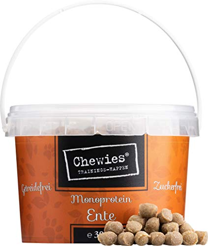 Chewies Trainingshappen Ente - Monoprotein Snack für Hunde - 300 g - getreidefrei & zuckerfrei - Softe...
