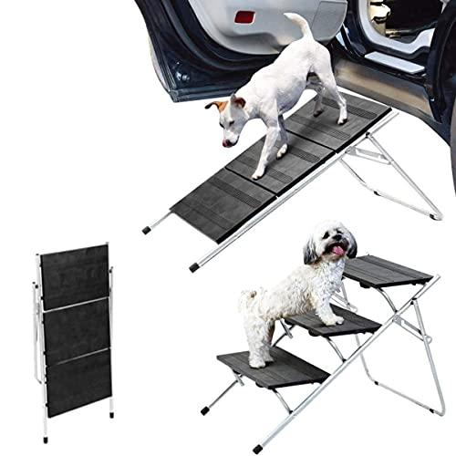 Bounabay Verstellbar 3 Stufen Haustiertreppe Hundetreppe, kann eine Rampe und Stufe Sein, Katzentreppe...