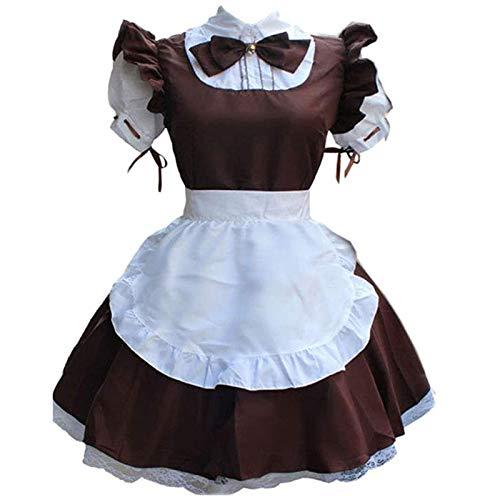 NHNKB Halloween Kostüm Damen Maid Dress Cosplay Lolita Dress French Maid Kostüm Gothic Loo Maid Kleider...