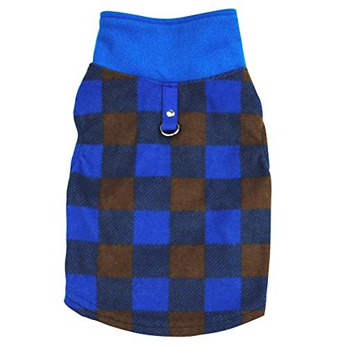 ChYoung Hund Fleece Weste Pullover Warm Pullover Jumper Jacket Mantel mit Kabelbaum D-Ring Leine...