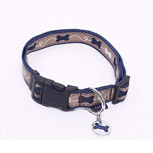 SNOLEK Weiche niedliche Hundehalsband Hundeknochendruck verstellbare Haustier Hund verkleiden hochwertige...