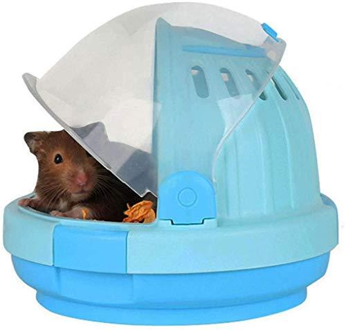 Misyue Hamsterkäfig, tragbar, für syrische Hamster, Kleintiere, Hamsterzubehör mit 60 ml Wasserflasche...
