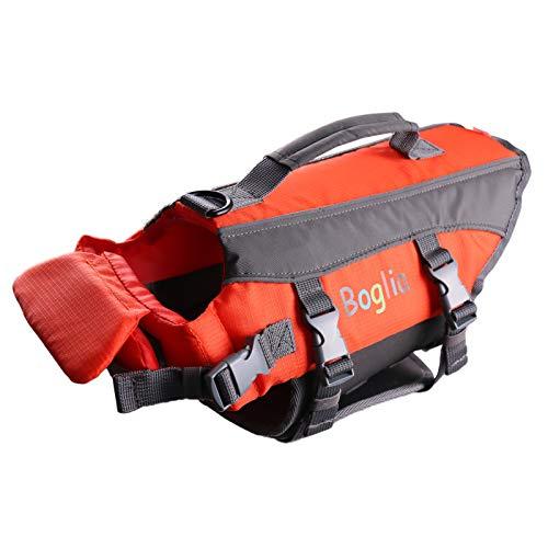 PROTAURI Hund Schwimmweste, verstellbare Schwimmwesten für Wassersicherheitsweste mit Rettungsgriff...