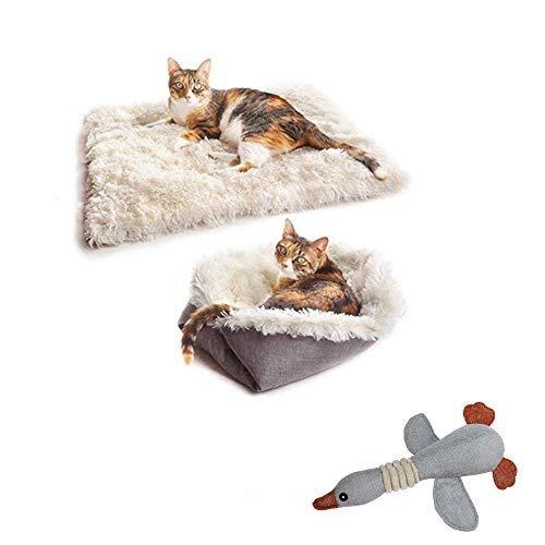 TOPSOSO Katzenbett Matten Hundebett selbstwärmend 2-in-1 Haustierbetten für mittelgroße kleine Hunde...