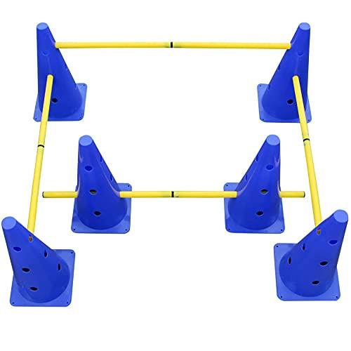3 Set Steckhürdenset für Koordinationstraining,Hürden Set Verstellbar,Agility Zubehör für das...