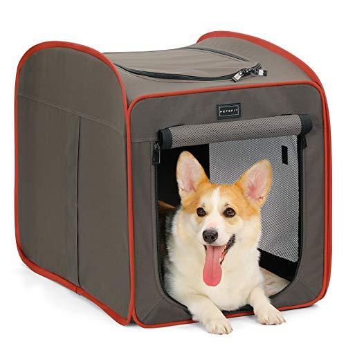 Petsfit Hundebox Faltbare für Hund & Katze Transportbox Katzenbox Auto Stoff für große kleine Hunde...