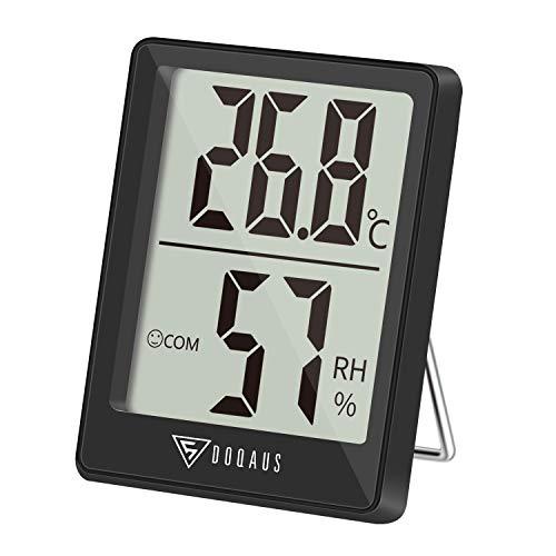 DOQAUS Thermometer Innen, Digitales Thermo Hygrometer Innen, Luftfeuchtigkeitsmessgerät, Hydrometer...