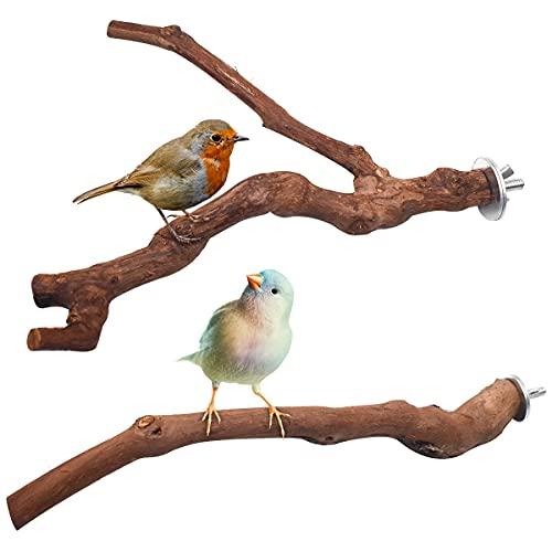 Yueser Vogel Barsch Papagei Spielzeug, 2 Stück Wildes Traubenholz Sitzstangen Natur Sitzstangen für...