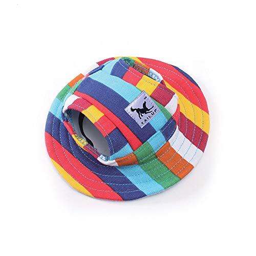 MoonyLI Hundebaseballmütze Hundebaseball-Schirmmütze Puppy Outdoor Sunbonnet Cap für kleine Hunde,...